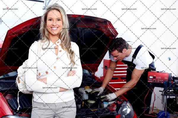 Mechanic and Woman